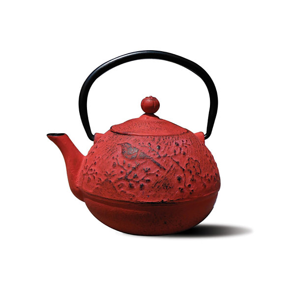 Old Dutch 24 Oz Red Cast Iron Suzume Teapot