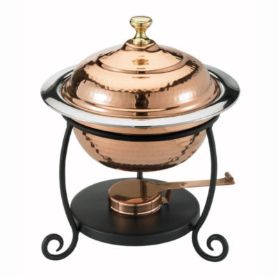 Old Dutch Round Décor Copper over Stainless SteelChafing Dish 1.75 Qt