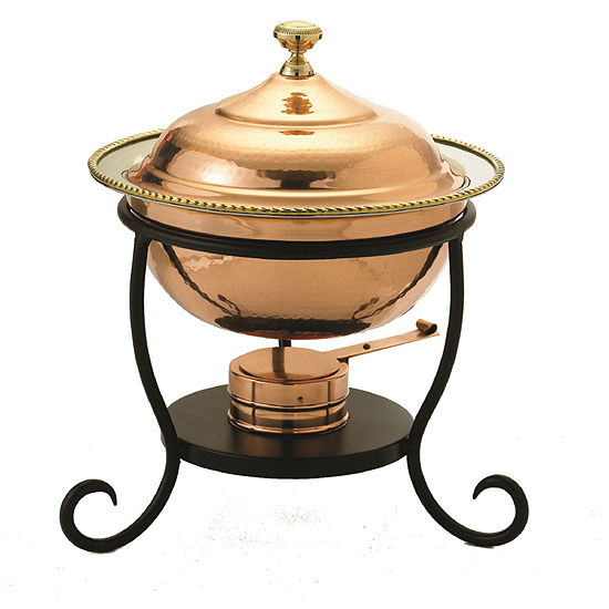 Old Dutch Round Décor Copper over Stainless SteelChafing Dish 3 Qt