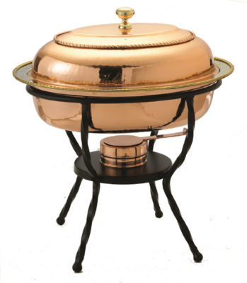 Old Dutch Oval Décor Copper over Stainless SteelChafing Dish 6 Qt