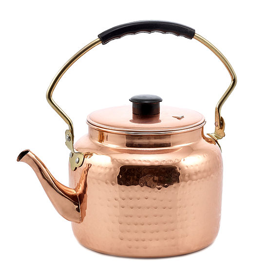 Old Dutch Hammered Decor Copper Tea Kettle Qt