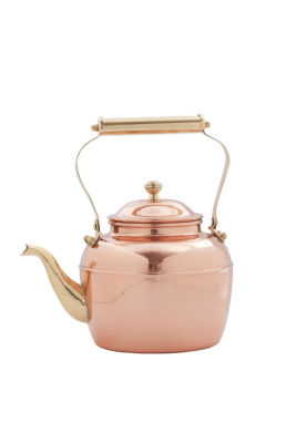 Old Dutch Solid Copper Tea Kettle with Brass SpoutHandle 2.5 Qt