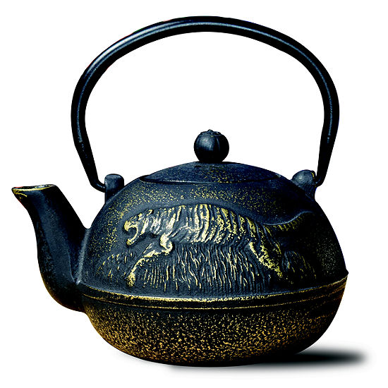 Old Dutch 22 Oz Matte Black Cast Iron Tora Teapot