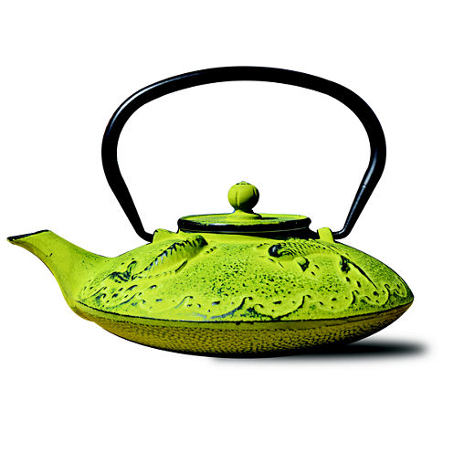 Old Dutch 25 Oz Moss Green Cast Iron Ogon Koi Teapot