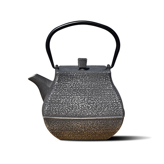 Old Dutch 44 Oz Silver And Black Cast Iron Meiyo Teapot