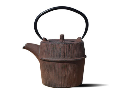 Old Dutch 26 Oz Woodland Brown Cast Iron Shinrin Teapot