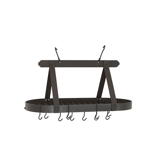 Old Dutch Oval Graphite Pot Rack with Grid and 16Hooks