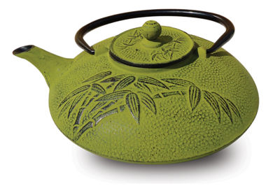 Old Dutch 26 Oz Moss Green Cast Iron Positivity Teapot