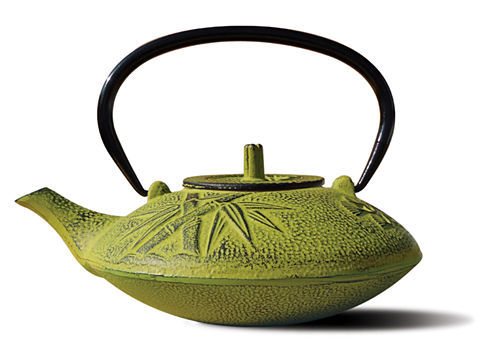 Old Dutch 37 Oz Moss Green Cast Iron Sakura Teapot