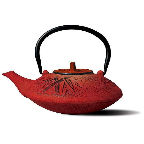 Old Dutch 37 Oz Red Cast Iron Sakura Teapot