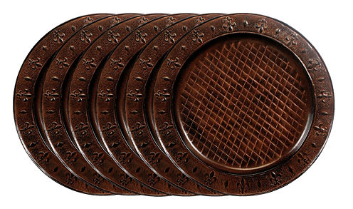 Old Dutch 13in Versailles Charger Plates Set of 6