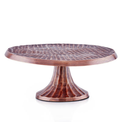Old Dutch Tribal Antique Copper Finish Aluminum Cake Stand