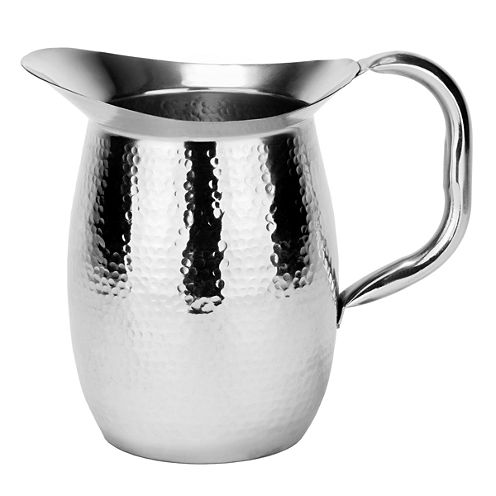 Old Dutch Double Walled Hammered Stainless Steel Water Pitcher 2 Qt