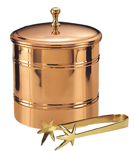 Old Dutch Décor Copper Ice Bucket with Brass Tongs 3 Qt