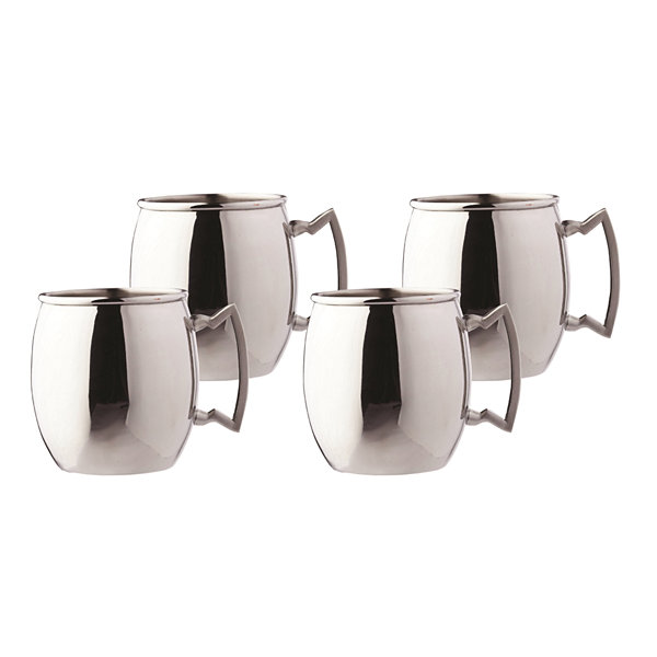 Old Dutch 16 Oz Steelii Stainless Steel Moscow Mule Mugs Set of 4