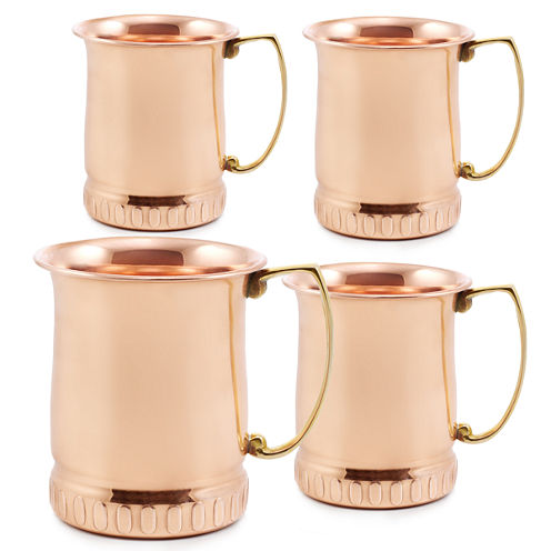 Old Dutch 17 Oz Solid Copper Sui Generis Moscow Mule Mugs Set of 4