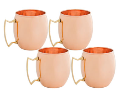 Old Dutch 16 Oz Solid Copper Moscow Mule Mugs Setof 4