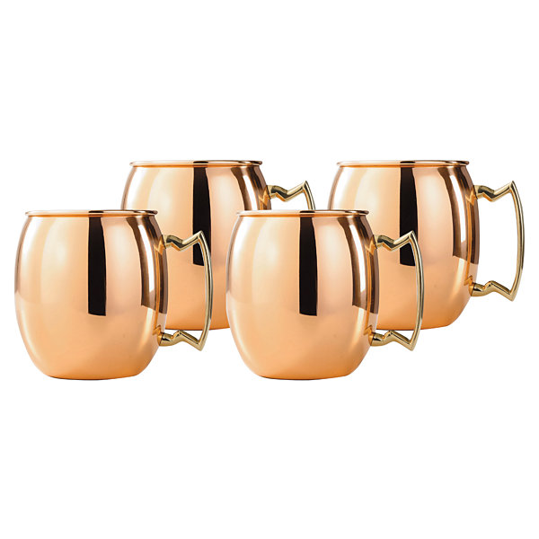 Old Dutch 24 Oz Solid Copper Moscow Mule Mugs Set of 4