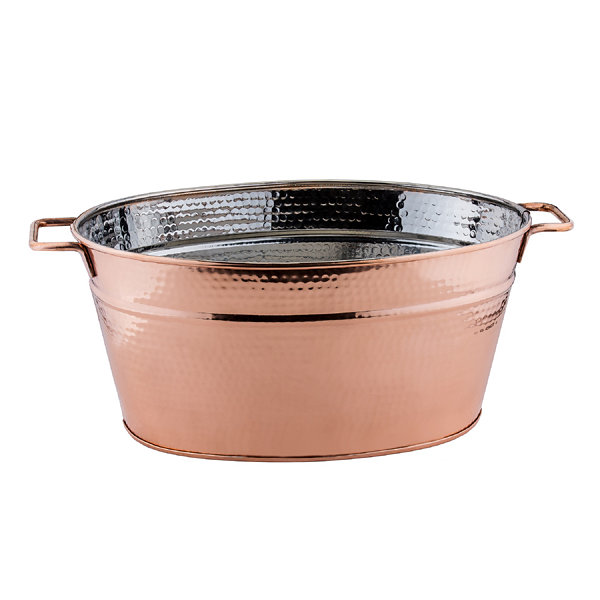 Old Dutch Hammered Décor Copper Oval Beverage Tub5.75 Gal