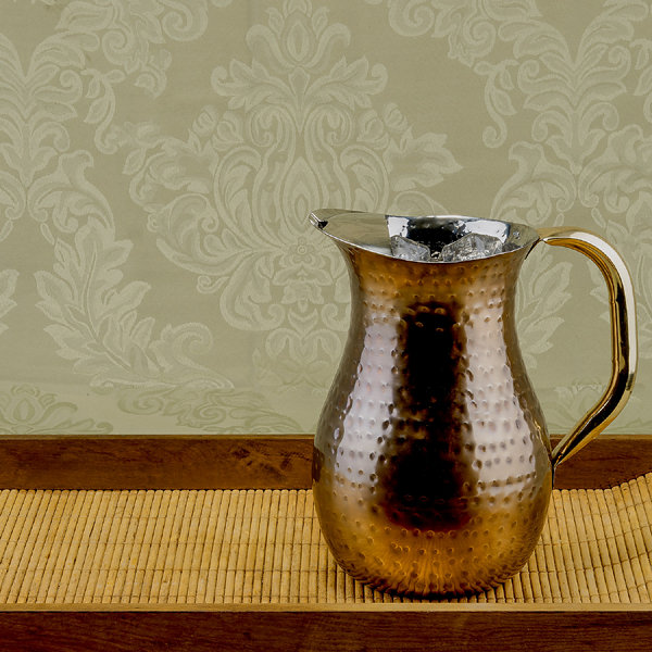 Old Dutch Décor Antique Copper Hammered Water Pitcher 2.25 Qt