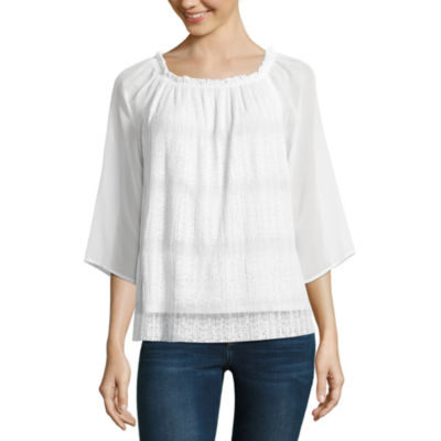 Alyx Lace Peasant Top