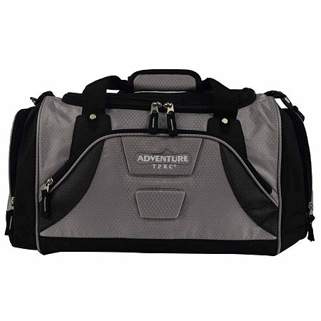 Travelers Club Adventure Redwood 2-section Drop-bottom Duffel, One Size , Gray