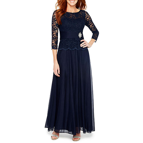 Jackie Jon 3/4 Sleeve Embellished Evening Gown JCPenney