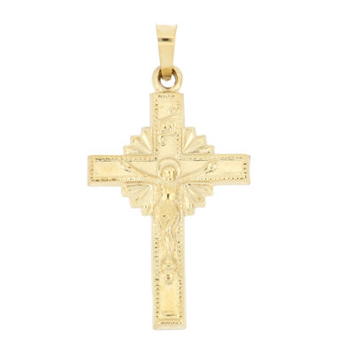 Womens 14K Gold Cross Pendant