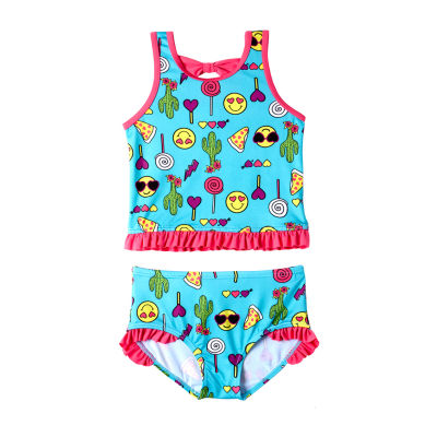 Pink Platinum Girls Tankini Set - Preschool