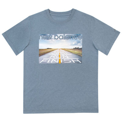 New Balance Short Sleeve T-Shirt-Big Kid Boys