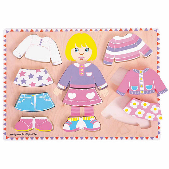 Bigjigs Toys - Big Dressing Girl Puzzle