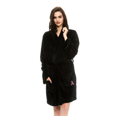 National Breast Cancer Foundation Inc. Cozy Plush Ribbon Embroidery Robe