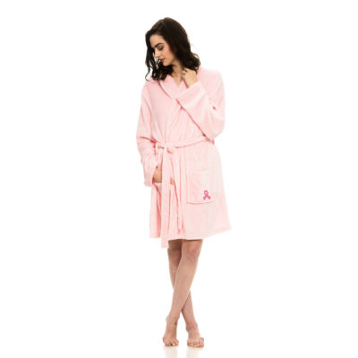 National Breast Cancer Foundation Inc. Cozy Plush Long-Sleeve Belted Spa Robe