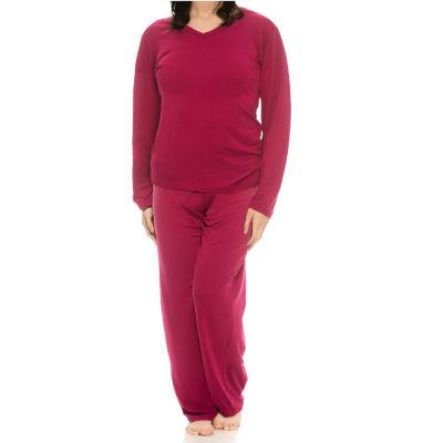 Harve Benard Sueded Micro Pant Pajama Set - Plus
