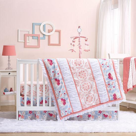 The Peanut Shell Camilla 4 Pc Crib Bedding Set