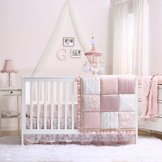 The Peanut Shell Grace 4-pc. Crib Bedding Set