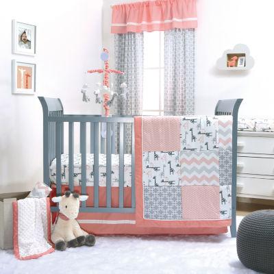 The Peanut Shell Uptown Girl 3-pc. Crib Bedding Set