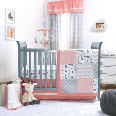 The Peanut Shell Uptown Girl 3-pc. Crib Bedding Set