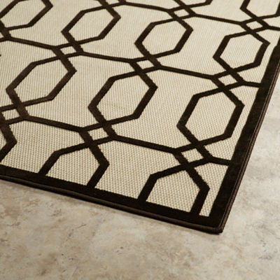 Kaleen Breath of Fresh Air Links Rectangular Indoor/Outdoor Rug