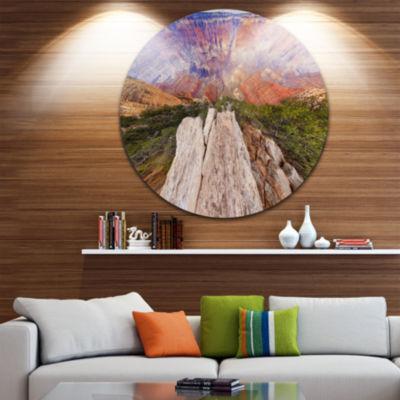 Designart Grand Canyon View from Above Seascape Metal Artwork