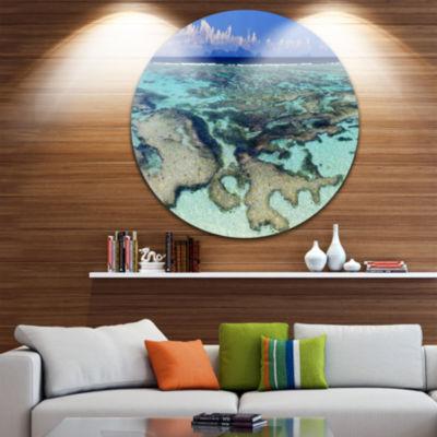 Designart Turquoise Tropical Ocean Waters SeascapeMetal Artwork