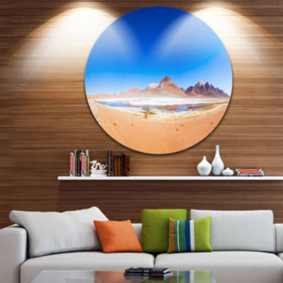 Designart Bolivia Altiplano Lake Panorama SeascapeMetal Artwork