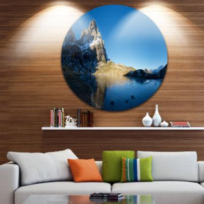 Designart Payrenees Mountains Landscape SeascapeMetal Artwork