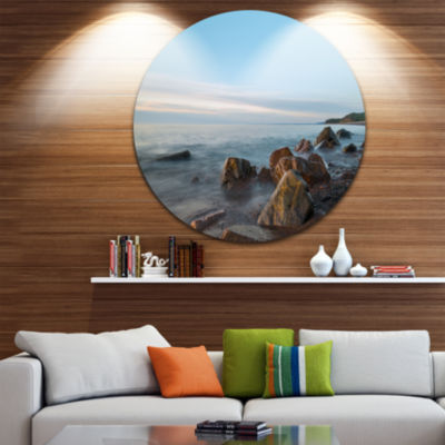 Designart Cape Breton Beach Nova Scotia Canada Seascape Metal Artwork