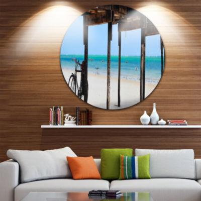 Designart White Sand Beach in Zanzibar Island Seascape Metal Artwork