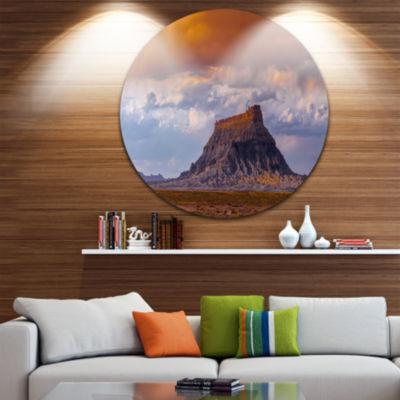 Designart Factory Buttle Utah Panorama LandscapeMetal Circle Wall Art