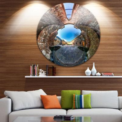 Designart Mont Sainte Odile Little Planet Landscape Metal Circle Wall Art