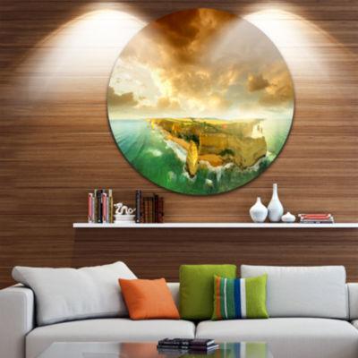 Designart Great Ocean Road Australia Green Seascape Metal Artwork