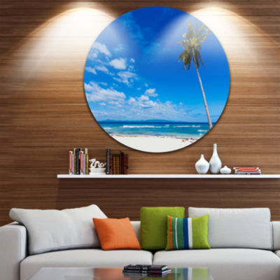 Designart Calm Summer Vacation Beach PhilippinesSeascape Metal Artwork