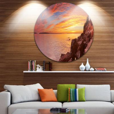 Designart Bass Harbor Head Lighthouse Panorama Seascape Metal Artwork
